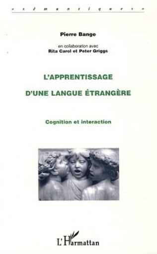 Couverture L'apprentissage d'une langue étrangère