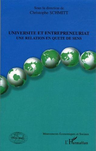 Couverture Université et entrepreneuriat