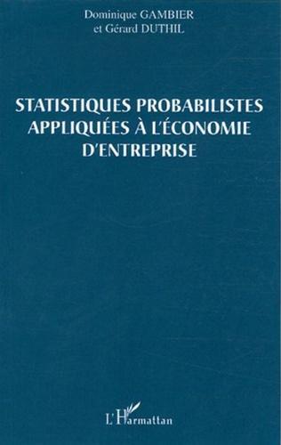 Couverture Statistiques probabilistes appliquées à l'économie d'entreprise