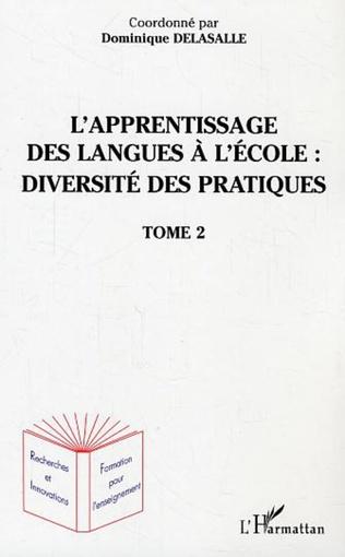 Couverture L'apprentissage des langues à l'école : diversité des pratiques