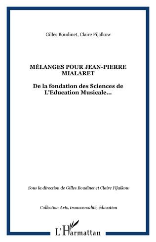 Couverture Mélanges pour Jean-Pierre Mialaret