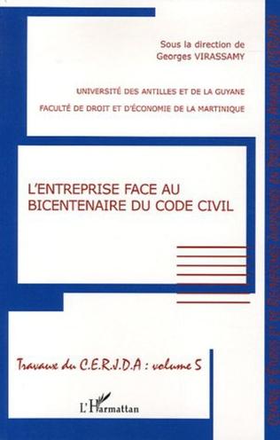 Couverture L'entreprise face au bicentenaire du Code civil
