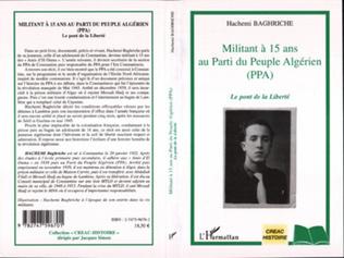 Couverture Militant à 15 ans au Parti du Peuple Algérien (PPA)