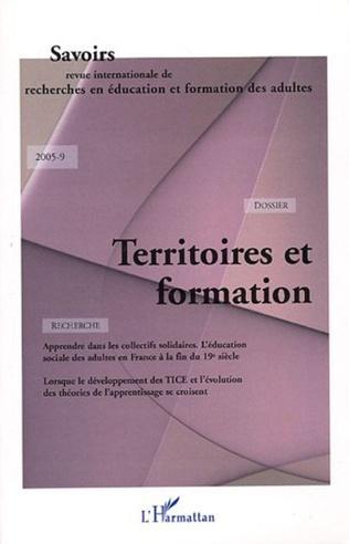 Couverture Territoires et formation