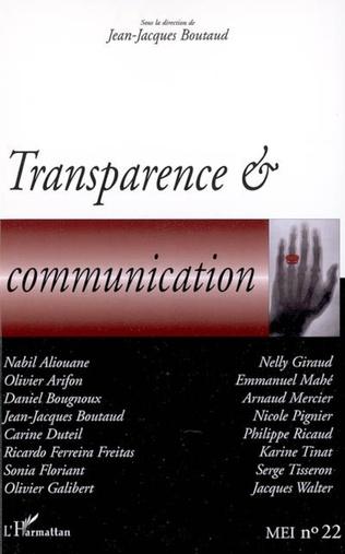 Couverture Transparence et communication