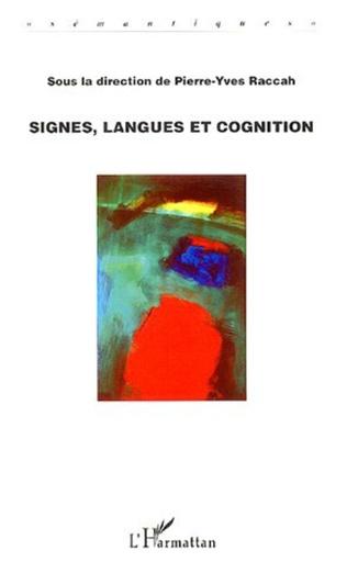 Couverture Signes, langues et cognition