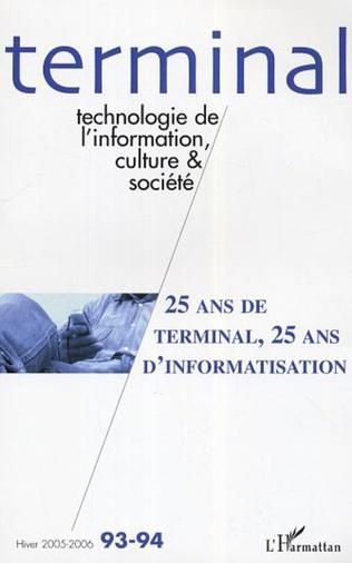 Couverture 25 ans de terminal, 25 ans d'informatisation