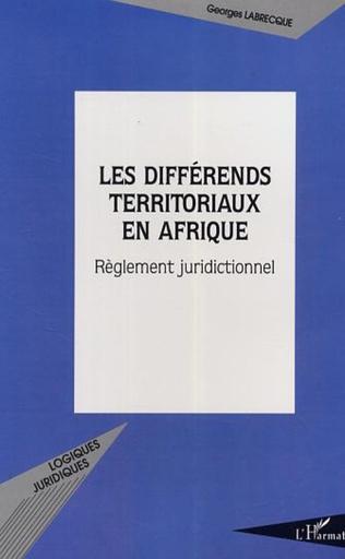 Couverture Les différends territoriaux en Afrique