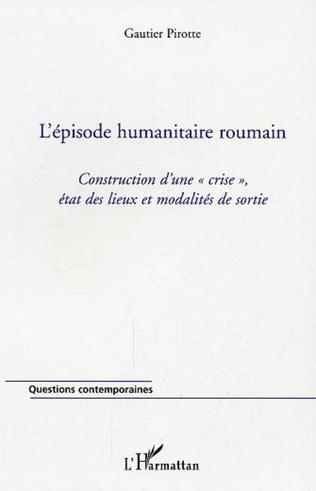 Couverture L'épisode humanitaire roumain