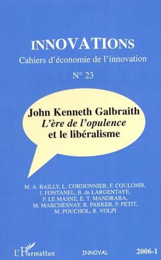 Couverture John Kenneth Galbraith