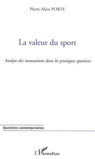 Couverture La valeur du sport