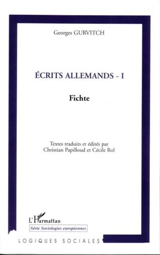 Couverture Ecrits allemands - I