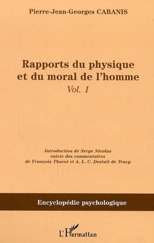Couverture Rapports du physique et du moral de l'homme