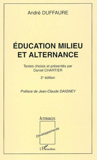 Couverture Education milieu et alternance