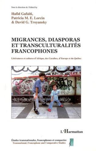 Couverture Migrances, diasporas et transculturalités francophones