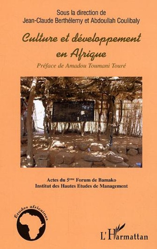 Couverture Culture et développement en Afrique