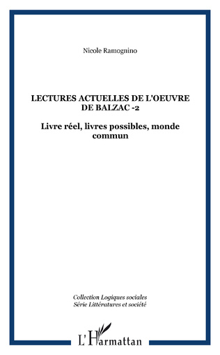 Couverture Lectures actuelles de l'oeuvre de Balzac -2