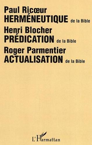 Couverture Herméneutique de la Bible