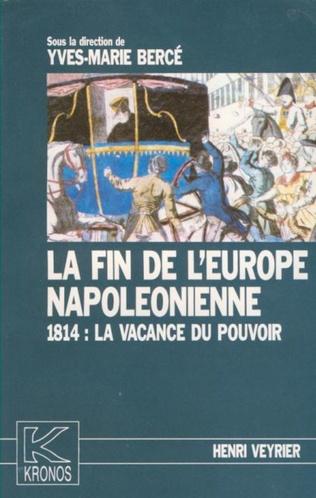 Couverture La fin de l'Europe napoléonienne
