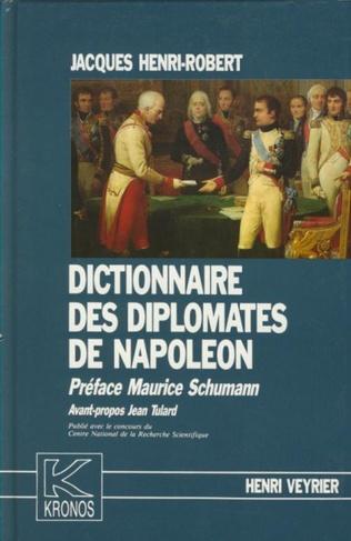 Couverture Dictionnaire des diplomates de Napoléon