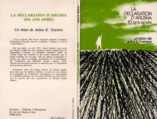 Couverture Tanzanie, la déclaration d'Arusha dix ans après