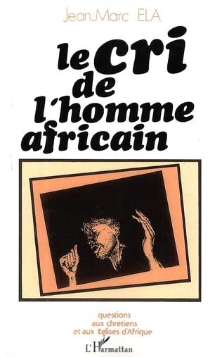 Couverture Cri de l'homme africain