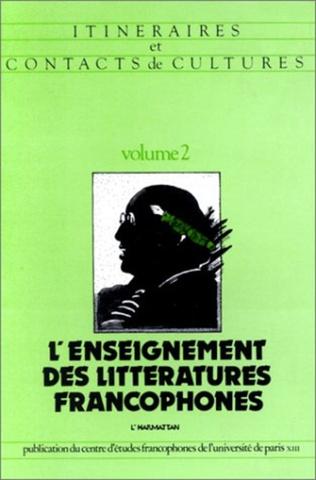 Couverture L'enseignement des littératures francophones