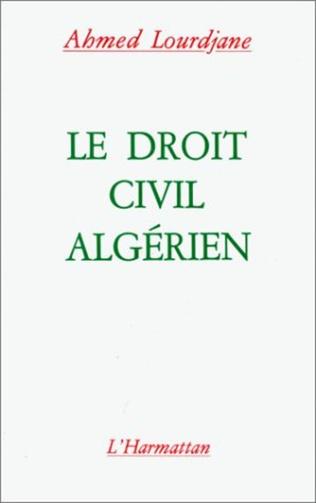 Couverture Le droit civil algérien