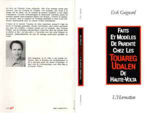 Couverture Faits et modèles de parenté chez les Touareg Udalen de Haute-Volta