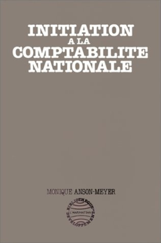 Couverture Initiation à la comptabilité nationale