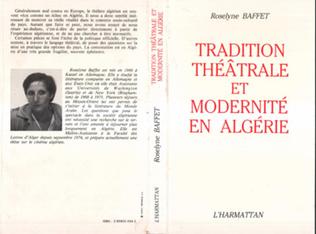 Couverture Tradition théâtrale et modernité en Algérie