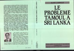 Couverture Le problème Tamoul au Sri-Lanka
