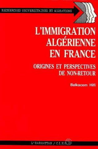 Couverture L'immigration algérienne en France