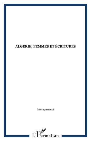 Couverture Algérie, femmes et écritures