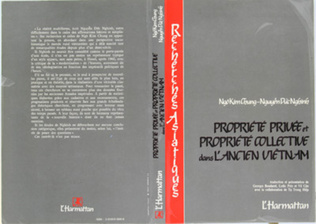 Couverture Propriété privée et propriété collective dans l'ancien Vietnam