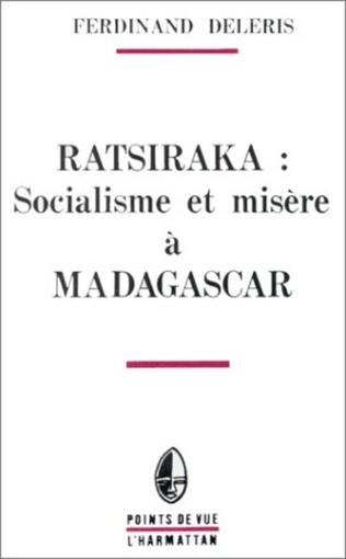 Couverture Ratsiraka: socialisme et misère à Madagascar