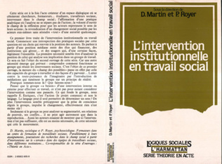 Couverture L'INTERVENTION INSTITUTIONNELLE EN TRAVAIL SOCIAL