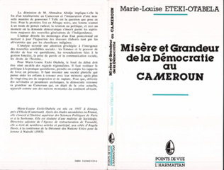 Couverture Misère et grandeur de la démocratie au Cameroun