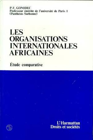 Couverture Les organisations internationales africaines