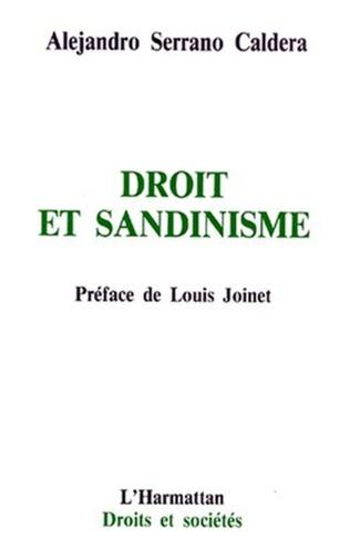 Couverture Droit et Sandinisme