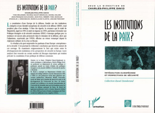 Couverture LES INSTITUTIONS DE LA PAIX ?
