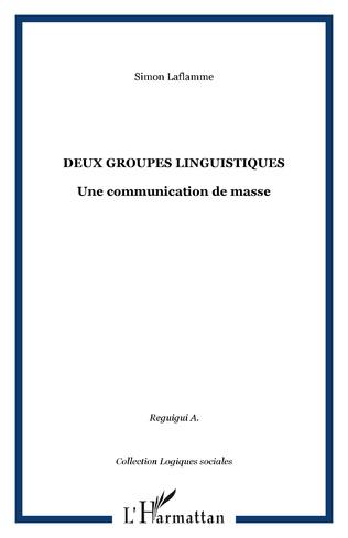Couverture Deux groupes linguistiques