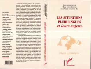 Couverture Les situations plurilingues et leurs enjeux