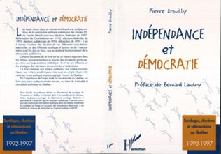 Couverture Indépendance et démocratie