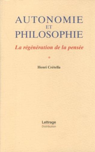 Couverture Autonomie et philosophie