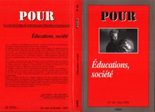 Couverture EDUCATIONS, SOCIETE
