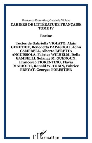 Couverture Cahiers de Littérature Française Tome IV
