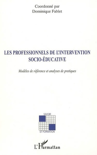 Couverture Les professionnels de l'intervention socio-éducative