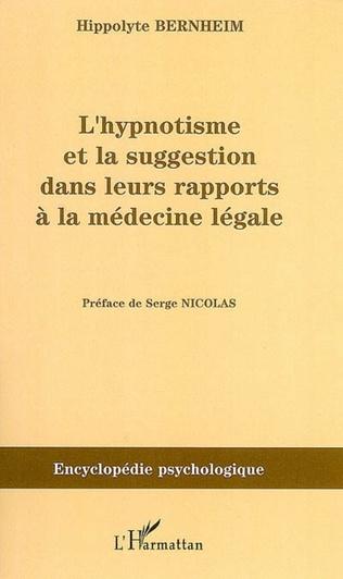Couverture L'hypnotisme et la suggestion dans leurs rapports à la médecine légale (1897)