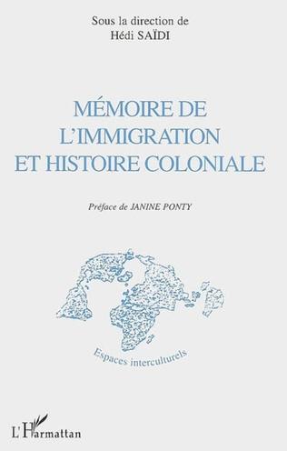 Couverture Mémoire de l'immigration et histoire coloniale